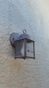 Replacing the Old Exterior Lamp Fitting