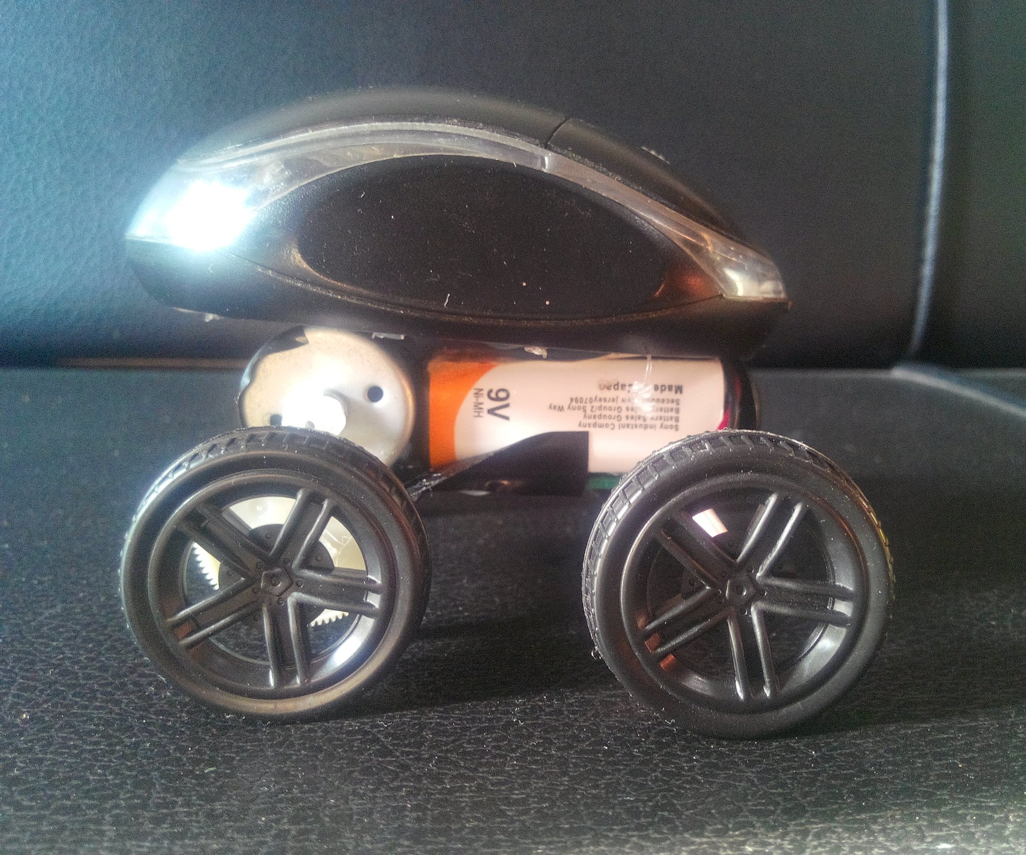 How To Make A Car With Mouse Powered Car Simple 11 Steps