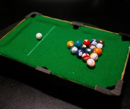 Mini Pool Table Out of Cardboard