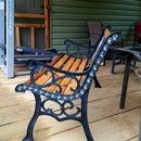Restored Vintage Cast Iron Angel Garden Bench
