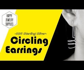 DIY Tutorial - How to Made 925 Sterling Silver Circling Earrings