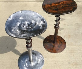 Suspension Stools From Scrap Steel