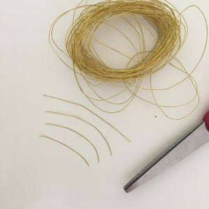 Step 1: Cut the Yarn and Wire