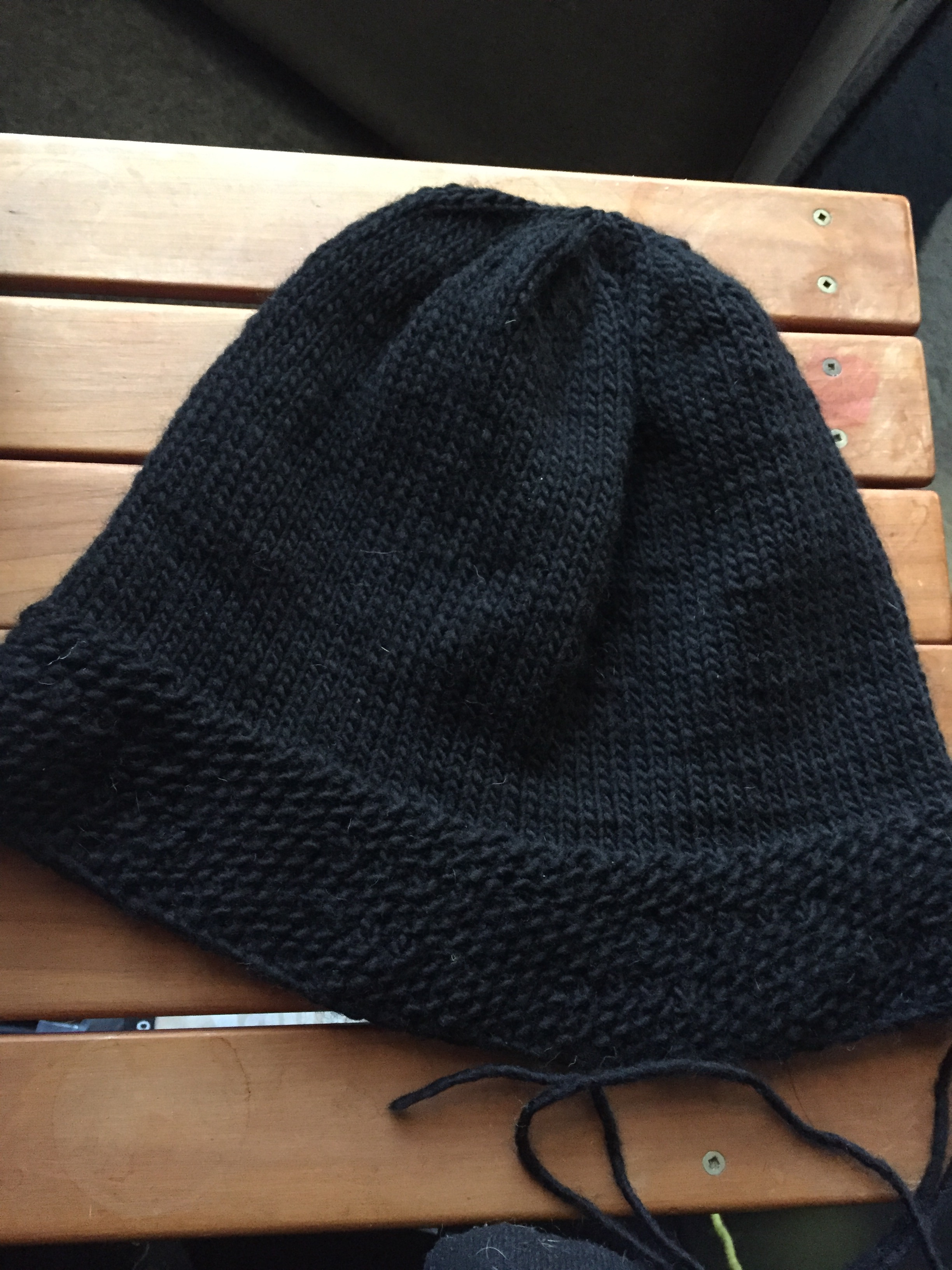 Picture of Step 1:  Knitting the Black Base Cloche Hat