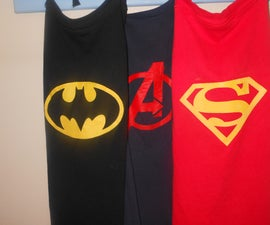 Super Hero Cape from a T-shirt