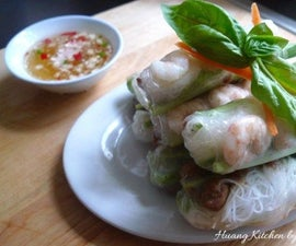 Vietnamese - Style Spring Rolls