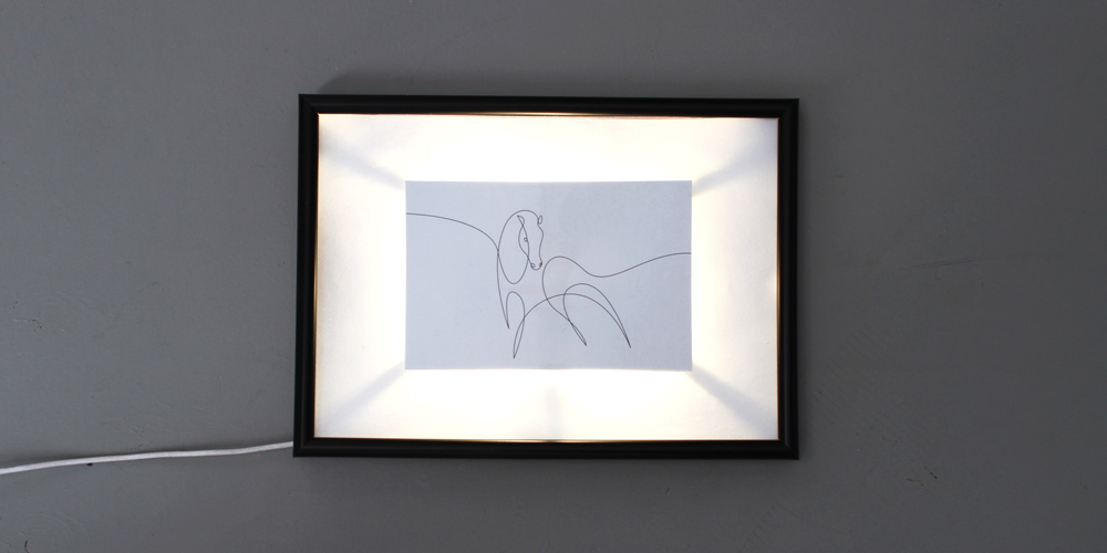 Picture of Hack a Picture Frame With Your Electric Paint Lamp Kit