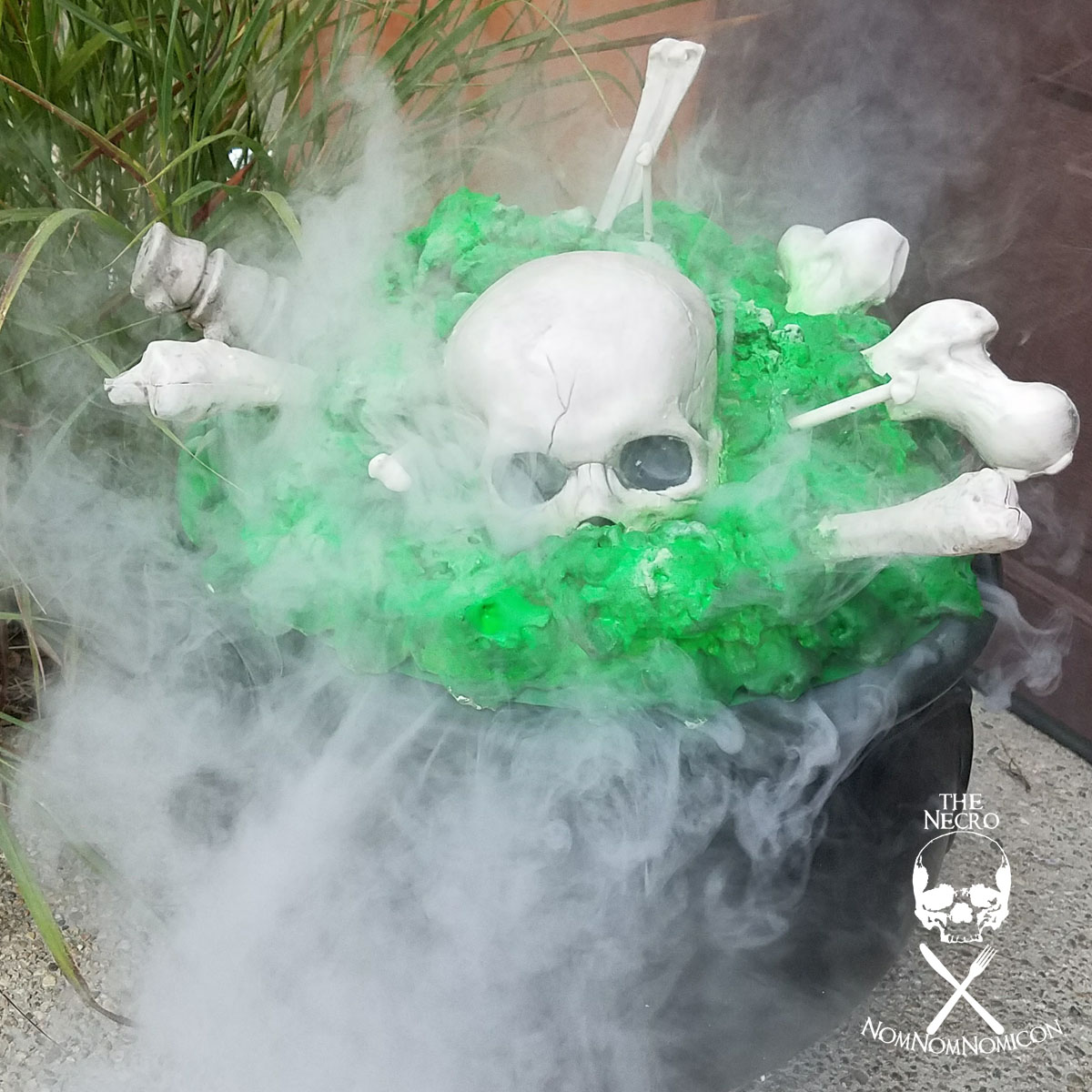 Picture of Halloween DIY:  Glow in the Dark Smoking Cauldron