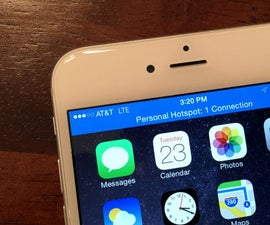 """How to Setup Personal Hotspot (""""Tethering"""") With IPhone 6 (iOS 9.0.2)"""