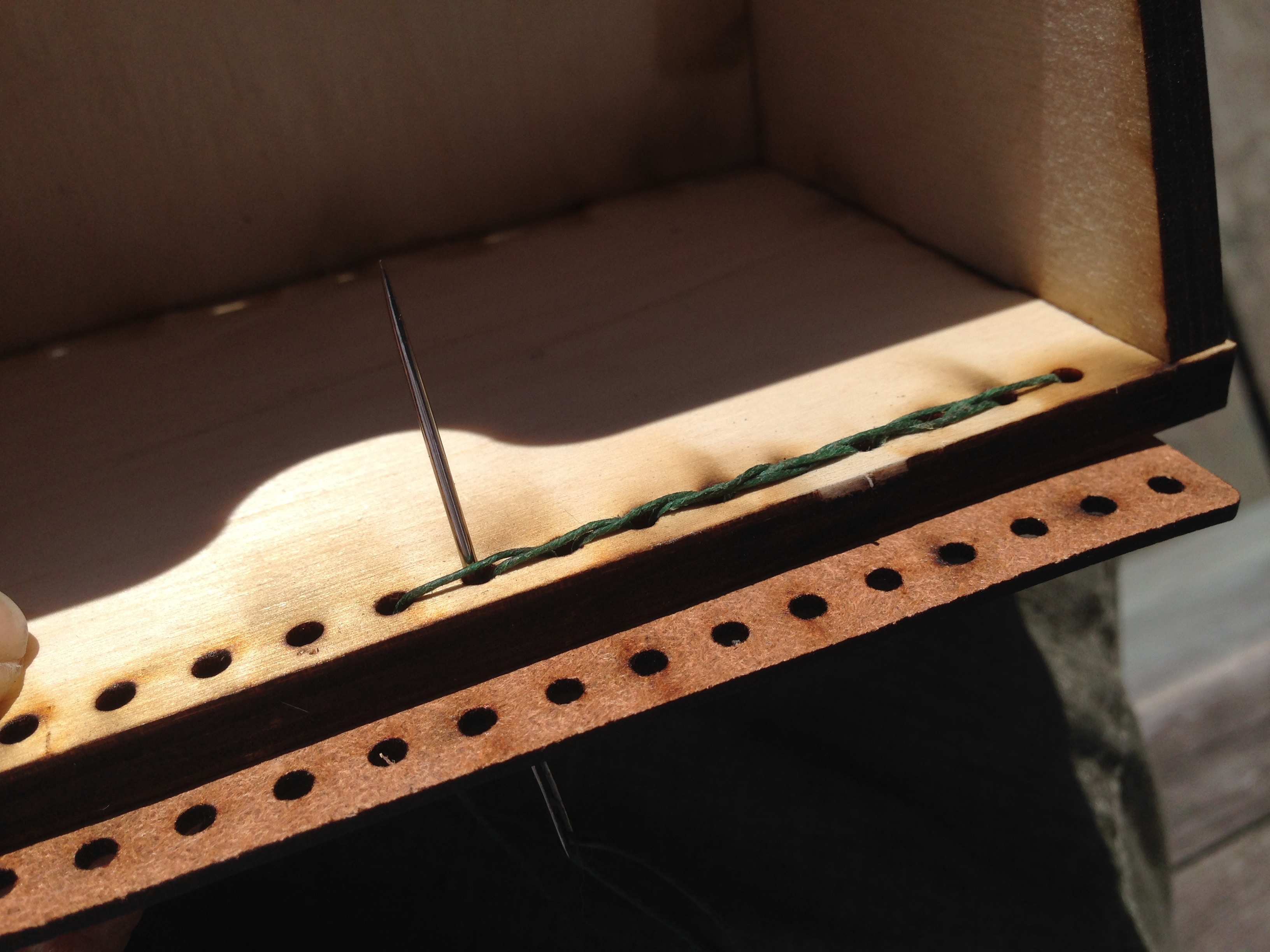 Picture of Adding the Leather Hinge