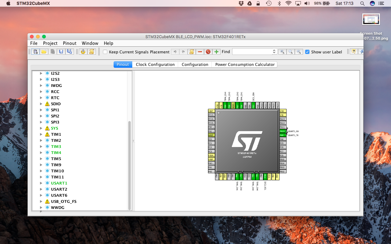 Picture of Load the STM32CubeMX Project