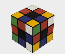 3D-printable Rubik's Cube in Fusion 360