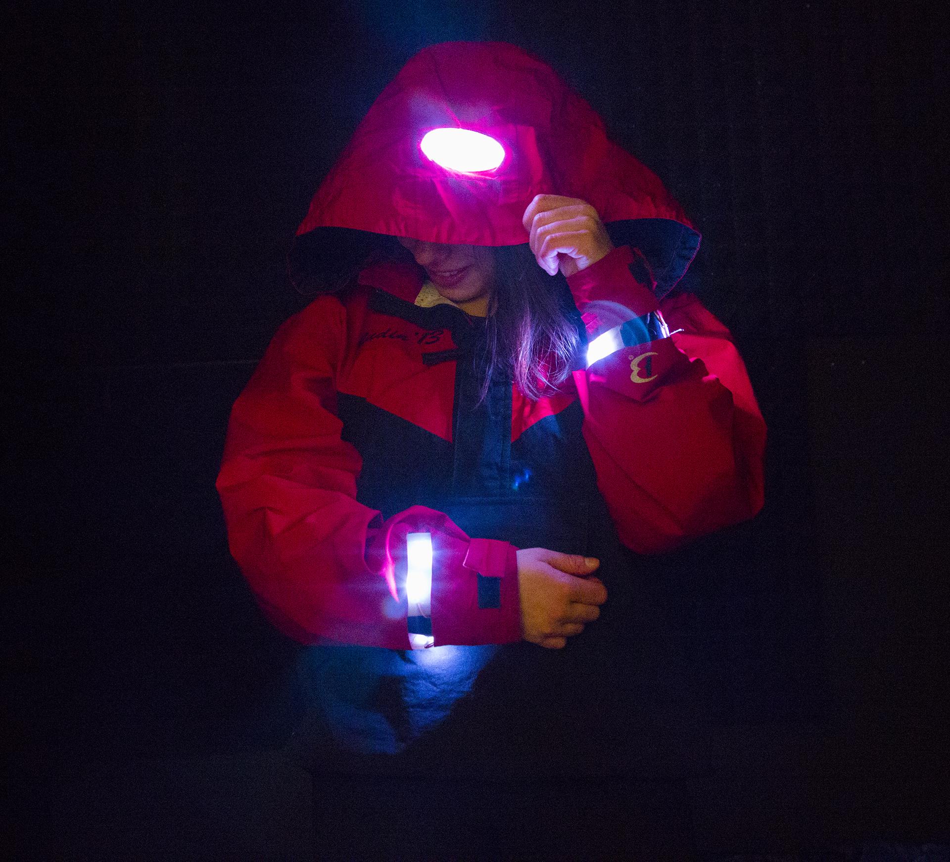Picture of Mountain Safety Jacket: Movement Sensitive LED Jacket
