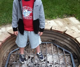 Fire pit grating