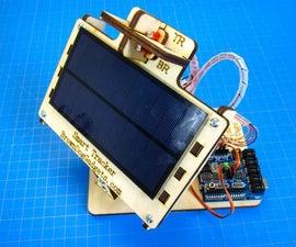 Un Seguidor Solar Simple Que Tiene Ejes Duales