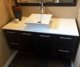 How to install a wall-hung vanity