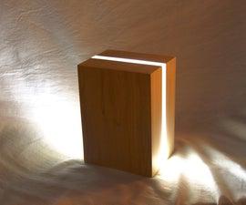 Modern Bedside Lamp from Scraps