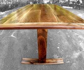 Adjustable Height Sit/Stand Walnut Desk