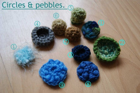 Circles and Pebbles Add Dimension and Fill in Gaps in Freeform Crochet:
