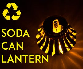 Recycled Soda Can LED Lantern