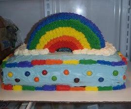 Rainbow cupcakes and cake