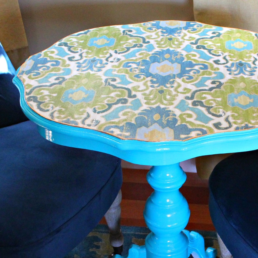 Picture of Decoupaged Fabric Table Makeover
