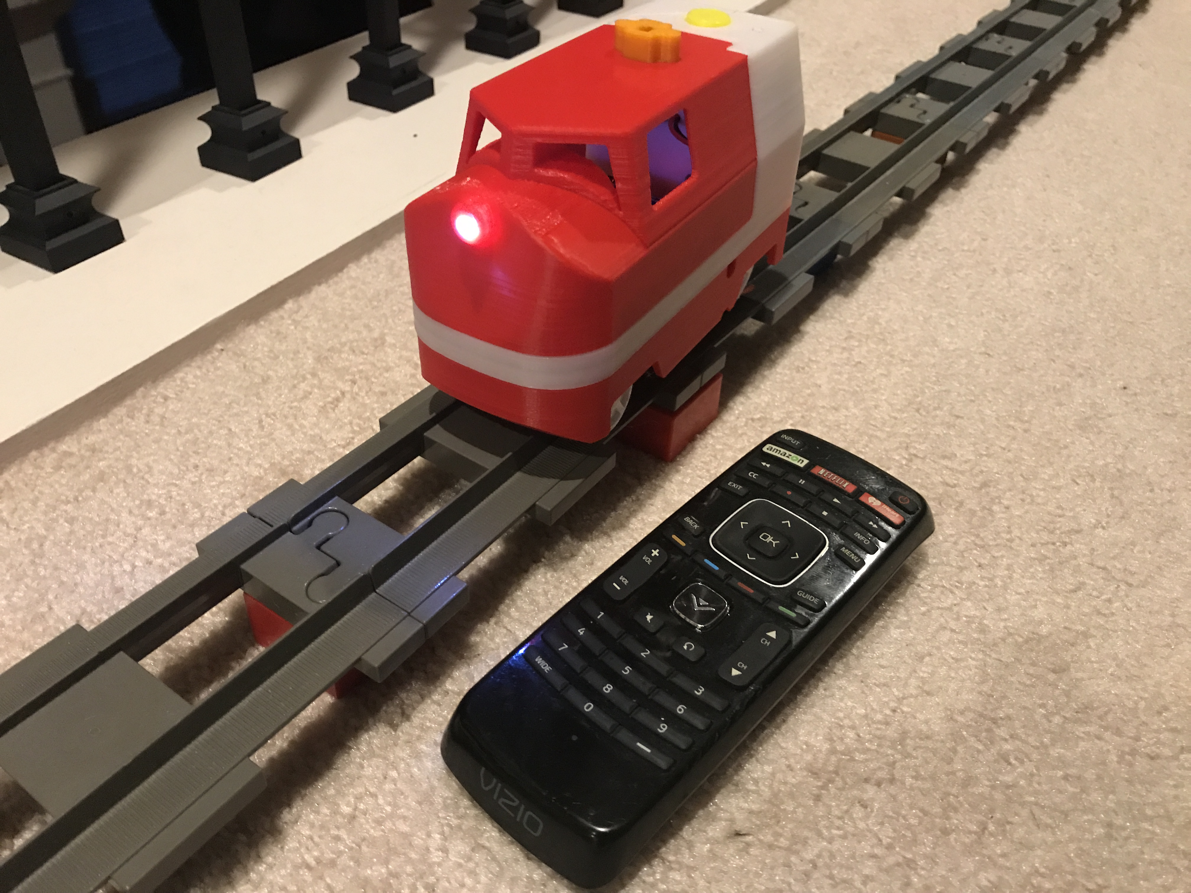 Picture of IR Controlled Lego Duplo Compatible Motorized Locomotive