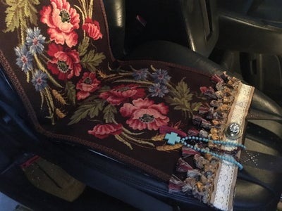 Vintage Needlepoint Turned Into a Blanket Bag, Car Seat and Bleacher Warmer
