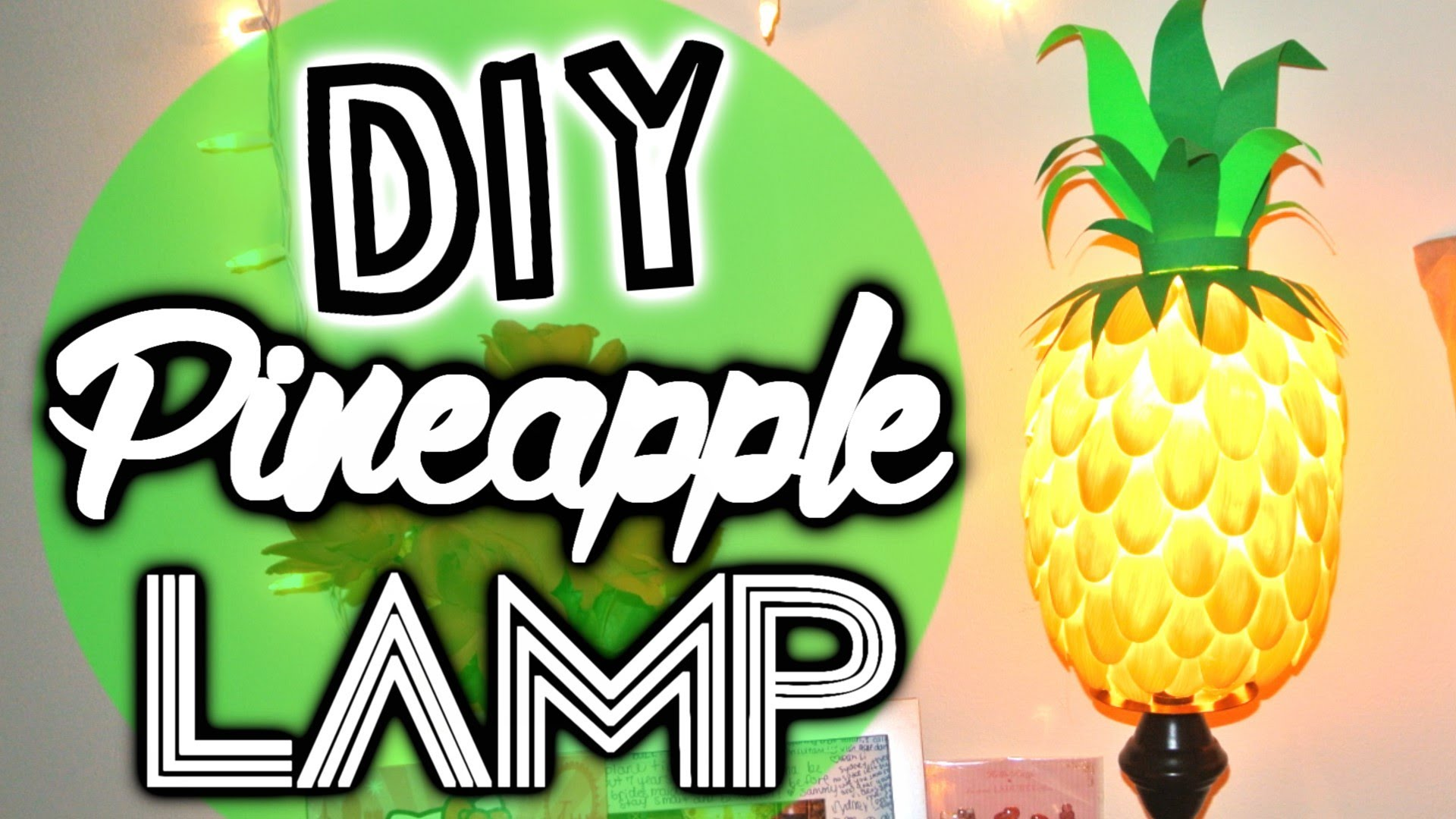 Picture of Diy Pineapple Lamp Made From Plastic Spoons