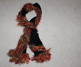 Flimsy Georgett shawl turned into warm and fancy winter shawl
