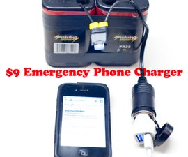 $9 Emergency Phone Charger 10 minutes