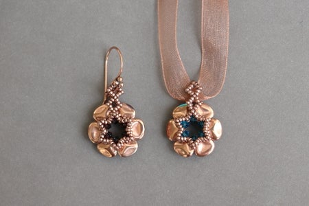 Beaded Earrings - Czech Rose Petals - Beading and Jewelry Tutorial