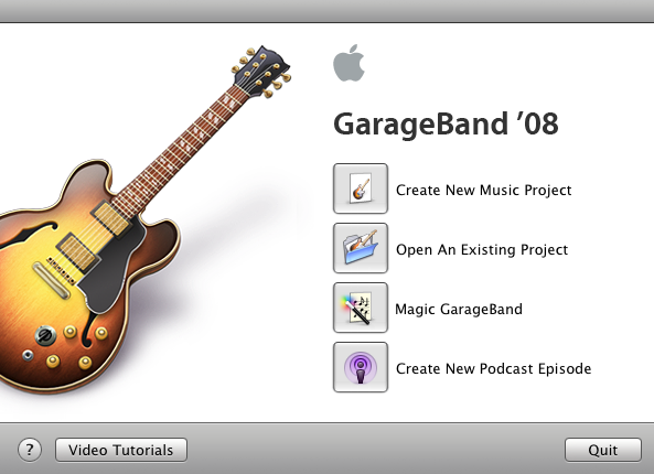 Picture of Set Up a New Garageband Project