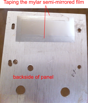 Picture of Preparing the Front and Back Panel