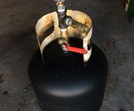 Propane tank to air storage