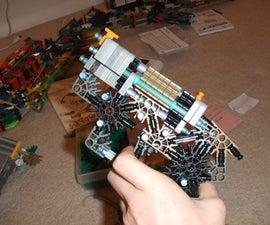Knex Pistol, with a NEW! firing mechanism, a Hammer