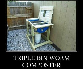 Triple Bin Worm Composter - Vermicompost