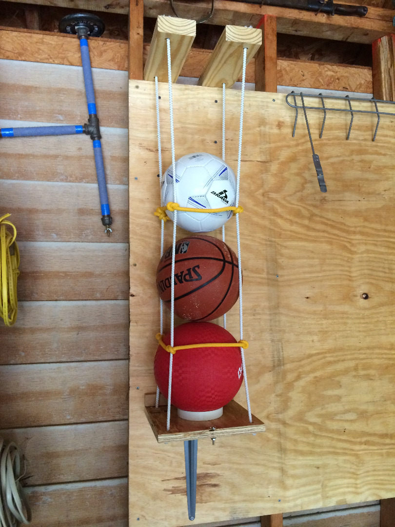 Picture of Easy Wall-mounted Sports Balls Holder