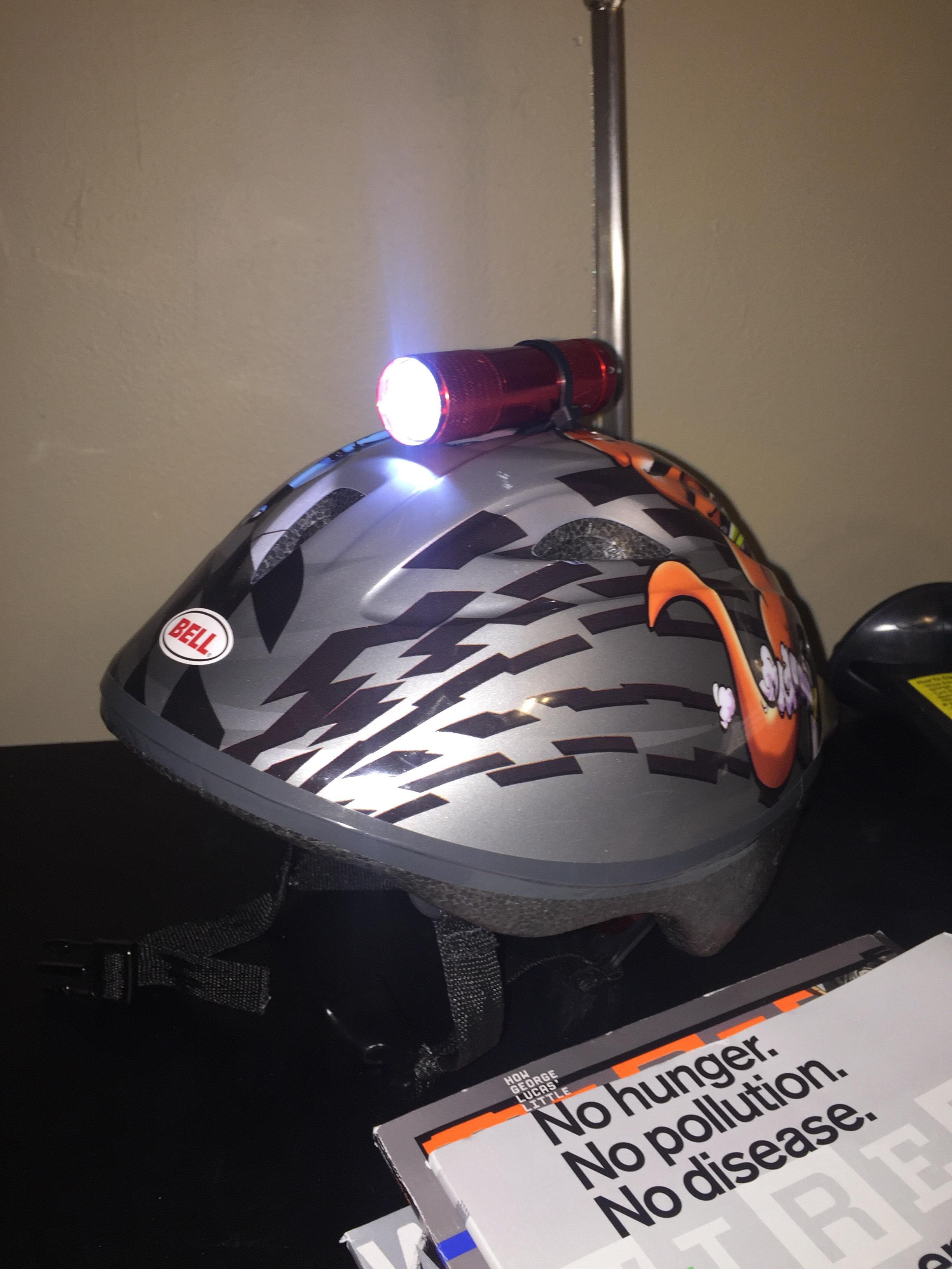 Picture of Bike Helmet Flashlight Mod