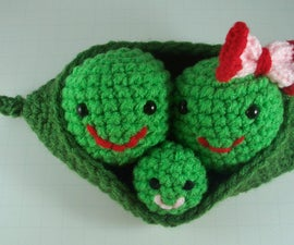 Crochet Amigurumi Three Peas in a Pod