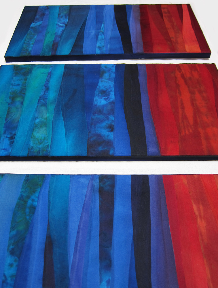 Picture of Hand Dyed Fabric Painting