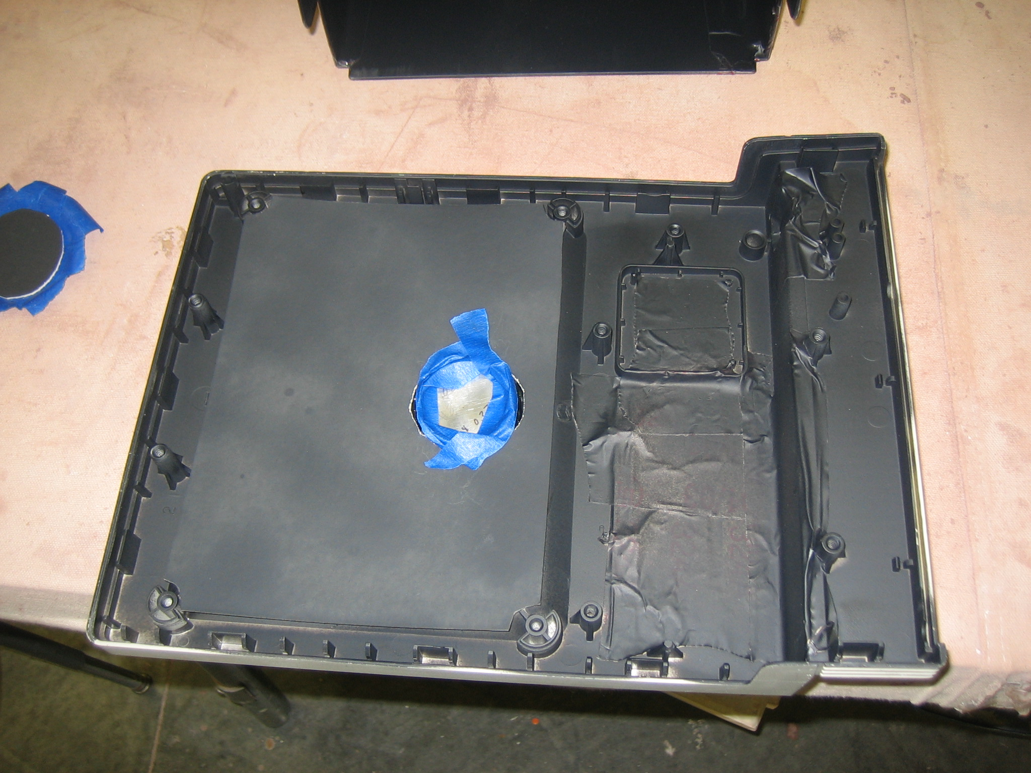 Picture of Epoxy a Piece of Matteboard to the Screen Opening.