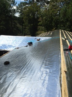 Picture of Step 1: Apply Radiant Barrier Over the Old Shingles