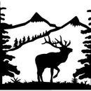 Elk Silhouette-Scroll Saw