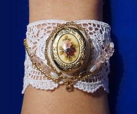 Unique Lace Bracelet with Locket
