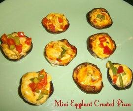 Mini Eggplant Crusted Pizza