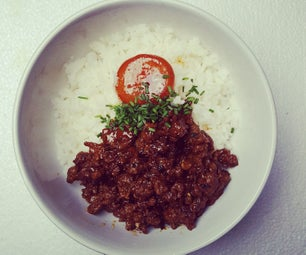 Spicy Beef & Cured Yolk Rice Bowl