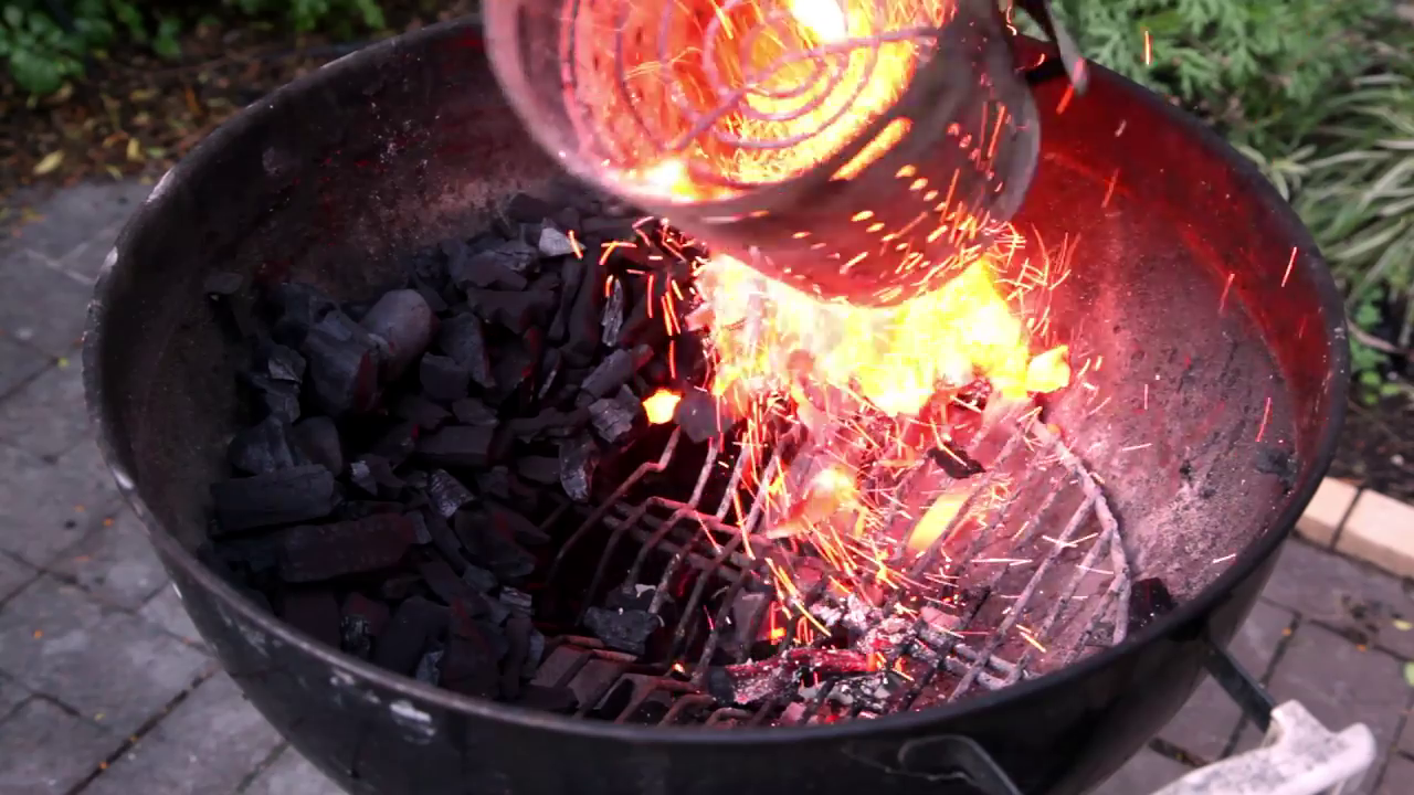 Picture of Setup Up Your BBQ for the Snake Method and Light a Chimney of Charcoal.