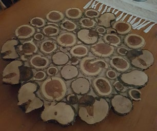 Wooden Log Cake and Cheese Platter