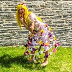 String and Hula Hoop Skirt